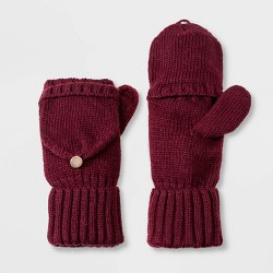 Women's Knit Flip Top Mitten - A New Day™ One Size