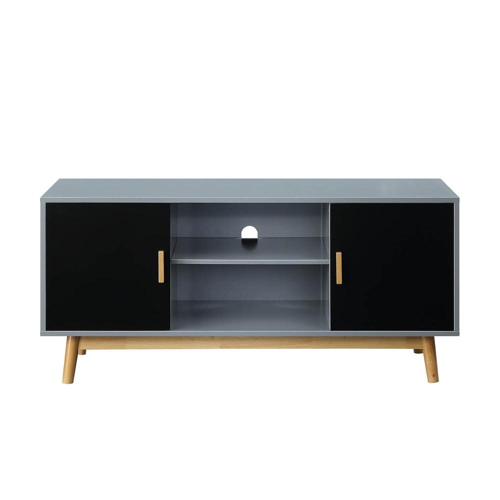 Oslo TV Stand Gray/Black - Johar Furniture