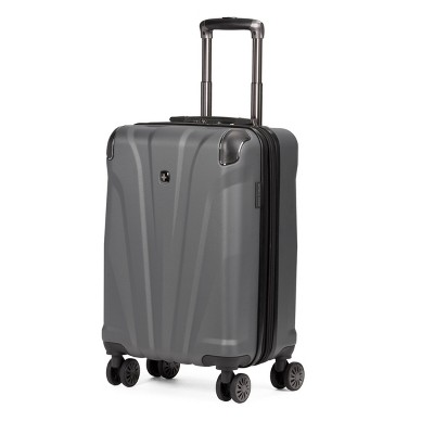"SWISSGEAR 20"" Hardside Carry On Suitcase - Dark Gray"