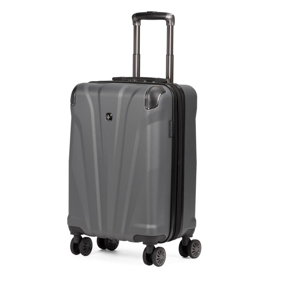 Swissgear 20 34 Hardside Carry On Suitcase Dark Gray