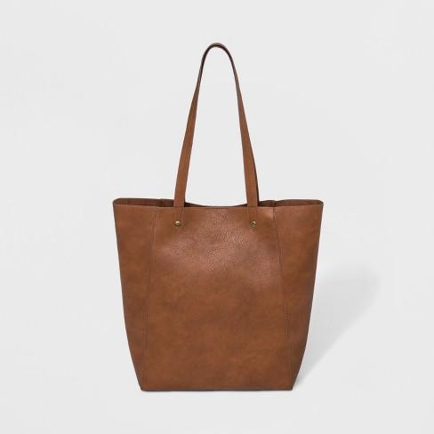 83e7a25ddab2 Unlined Tote Handbag - Universal Thread™ Cognac : Target