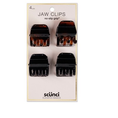 scunci 3cm No Slip Jaw Clips - 4pk
