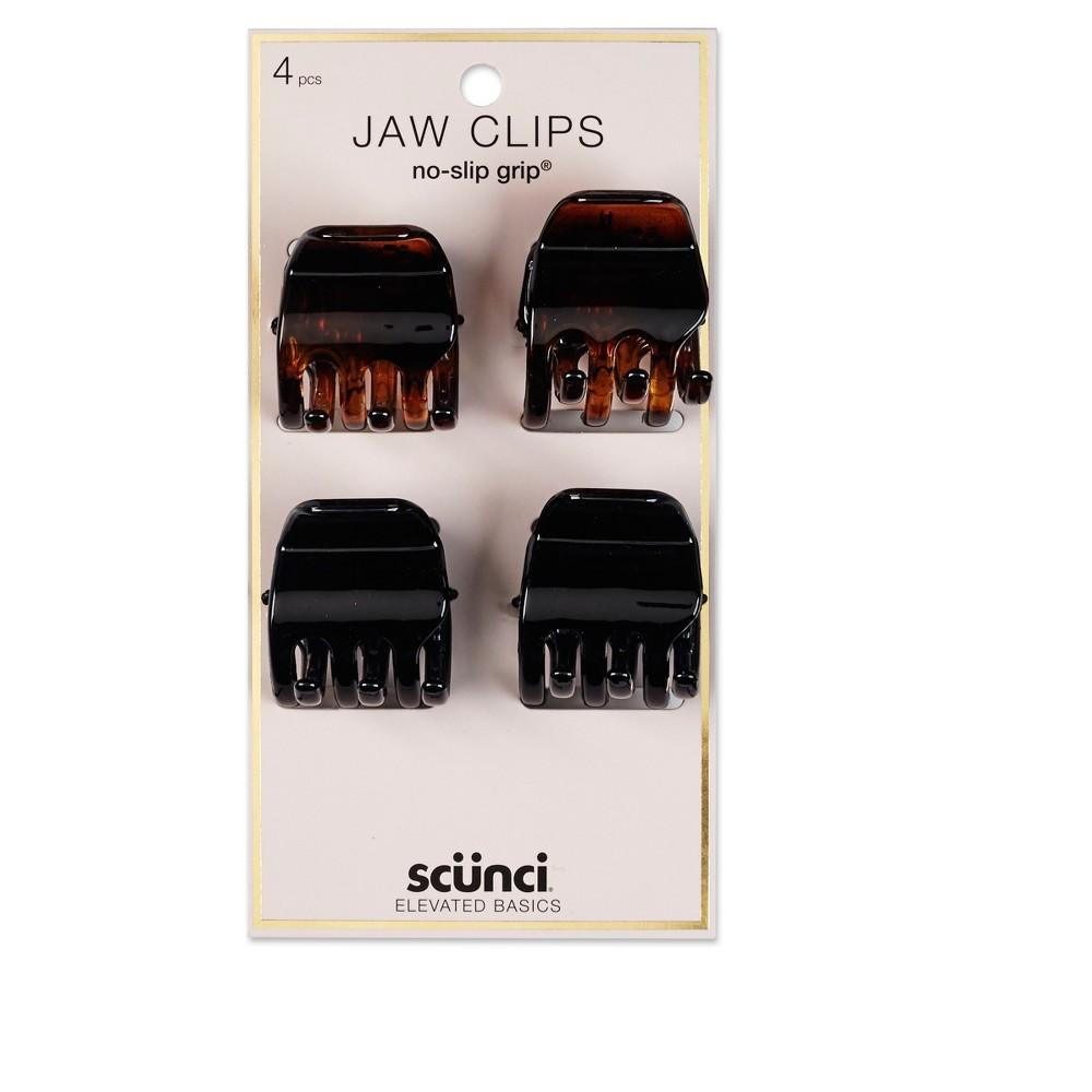 Image of Conair Scunci 3cm No Slip Jaw Clips - 4pk