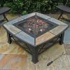 """Alba 33"""" Slate Top Fire Table - Slate Gray - leisurelife - image 2 of 4"""