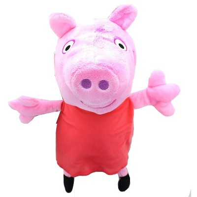The Zoofy Group LLC Peppa Pig In Red Dress 13.5 Inch Character Plush
