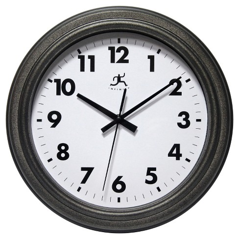 "Infinity Instruments Wall Clock - 11.5"" Rust Finish All - Weather - image 1 of 2"