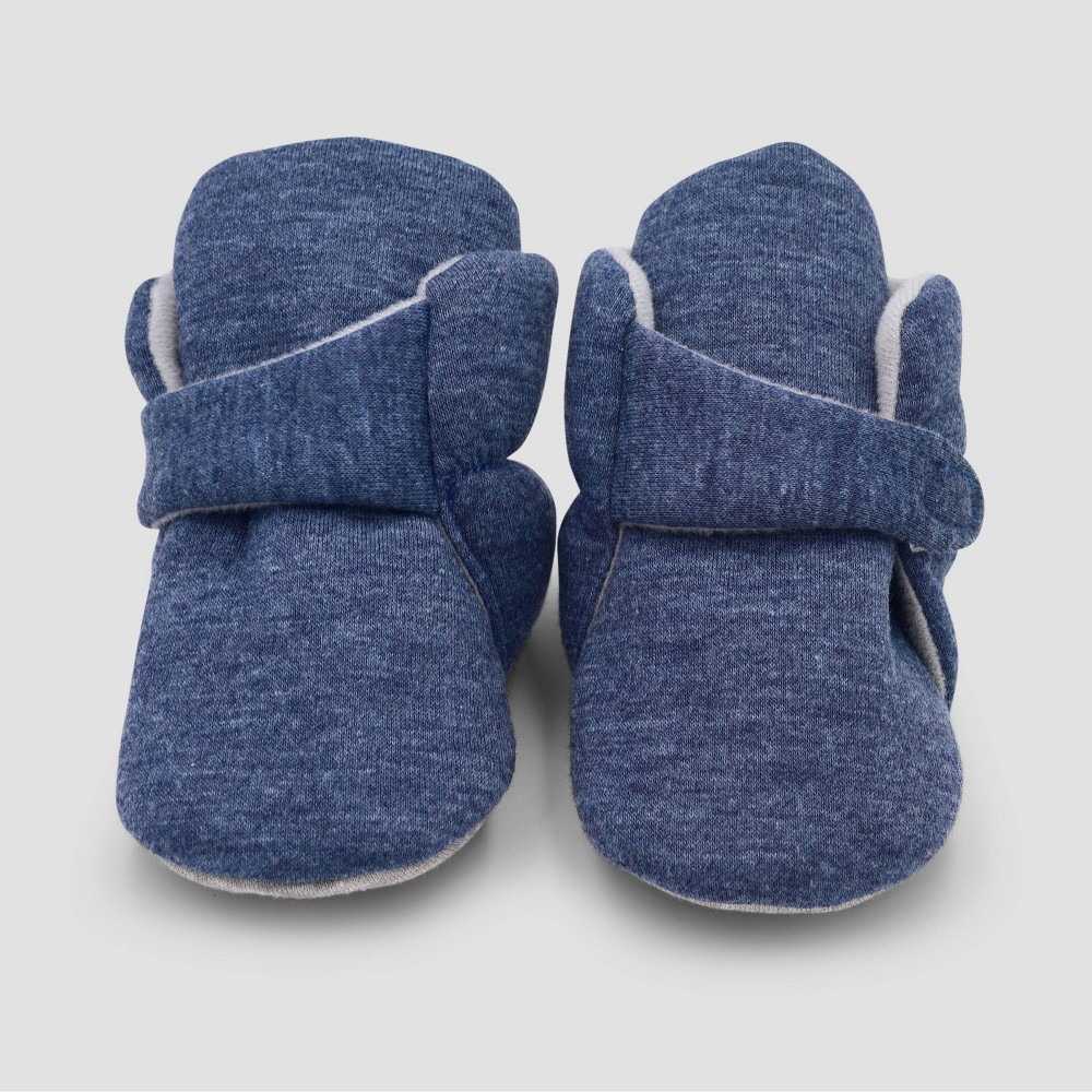 Image of Baby Boys' Constructed Bootie Slippers - Cloud Island Blue 0-3M, Boy's