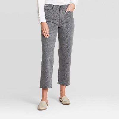 Women's High-Rise Vintage Straight Fit Jeans - Universal Thread™ Dark Gray