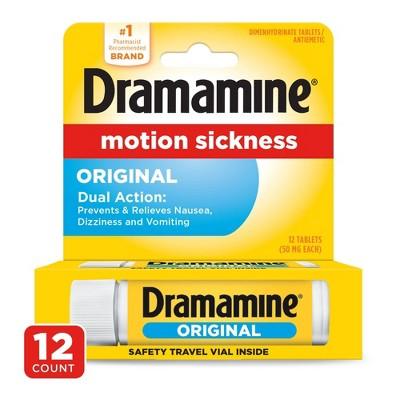 Dramamine Motion Sickness Original Tablets - 12ct