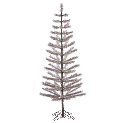 Vickerman Champagne Feather Artificial Christmas Tree