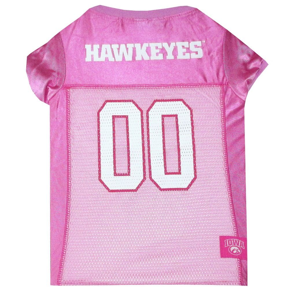 Pets First Iowa Hawkeyes Pink Jersey - S, Multicolored