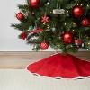 34in Reversible Christmas Tree Skirt Red - Wondershop™ - image 3 of 3