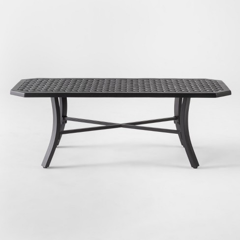 Chester Aluminum Patio Coffee Table Black Threshold