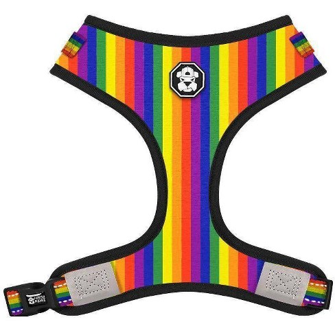 Fresh Pawz Pride Flag Adjustable Mesh Dog Harness - image 1 of 2