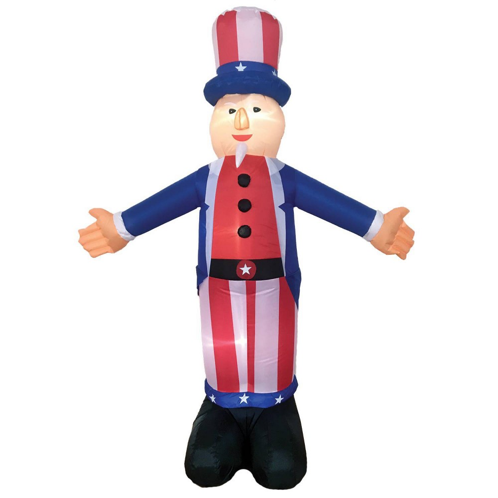 Image of 6' Uncle Sam Halloween Inflatable Holiday Decorations