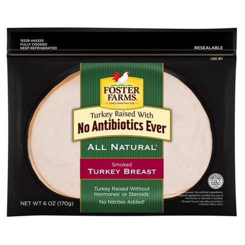 Foster Farms All Natural Smoked Turkey Breast - 6oz - image 1 of 1