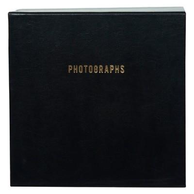 "9"" x 9"" Premium Leather Photo Albums Set Black - Pinnacle"