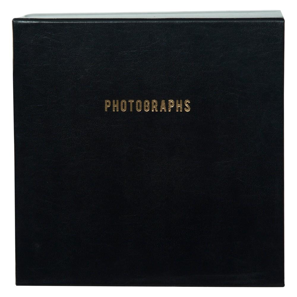 "Image of ""Pinnacle Albums 9"""" x 9"""" Premium Leather Photo Albums Set Black"""
