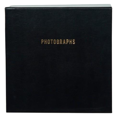 "Pinnacle Albums 9"" x 9"" Premium Leather Photo Albums Set Black - image 1 of 6"