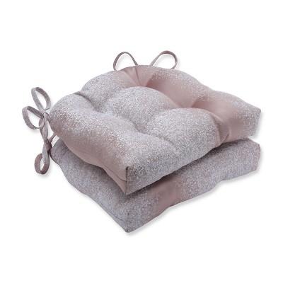 Set of 2 Illuminaire Blush Reversible Chair Pad - Pillow Perfect