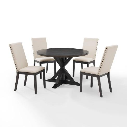 5pc Hayden Round Dining Set With 4, Round Dinner Table Set