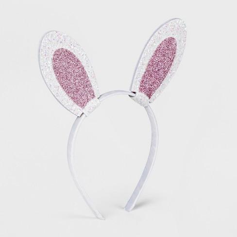 ca4d2b11fc1 Toddler Girls  Glitter Bunny Ear Headband - Cat   Jack™ White   Target