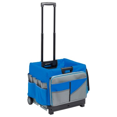 ECR4Kids Universal Rolling Cart and Organizer Bag - Blue - Mobile Storage