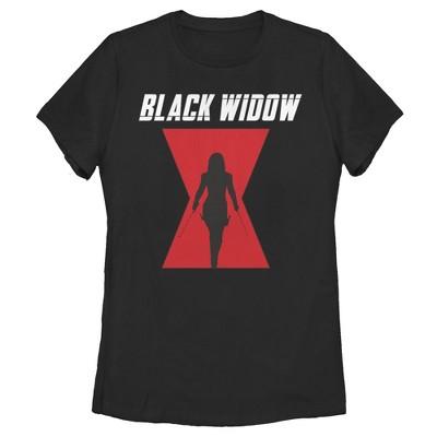 Women's Marvel Black Widow Hourglass Silhouette T-Shirt