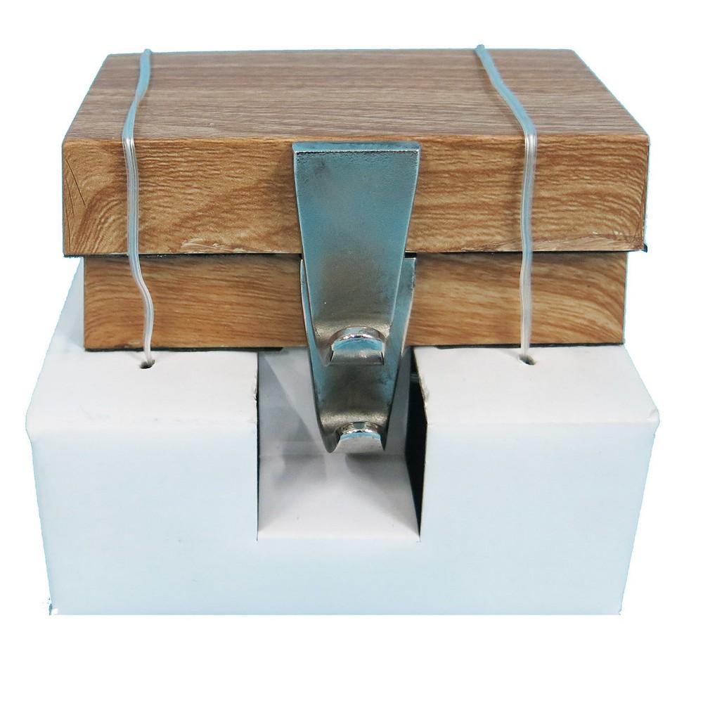 Wood Base Christmas Stocking Holder 2ct - Wondershop, Brown