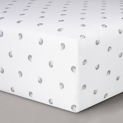 Fitted Crib Sheet Hedgehogs - Cloud Island™ - image 1 of 2