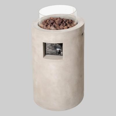 Pipestone 29  Tall LP Fire Column - Concrete Gray - Project 62™