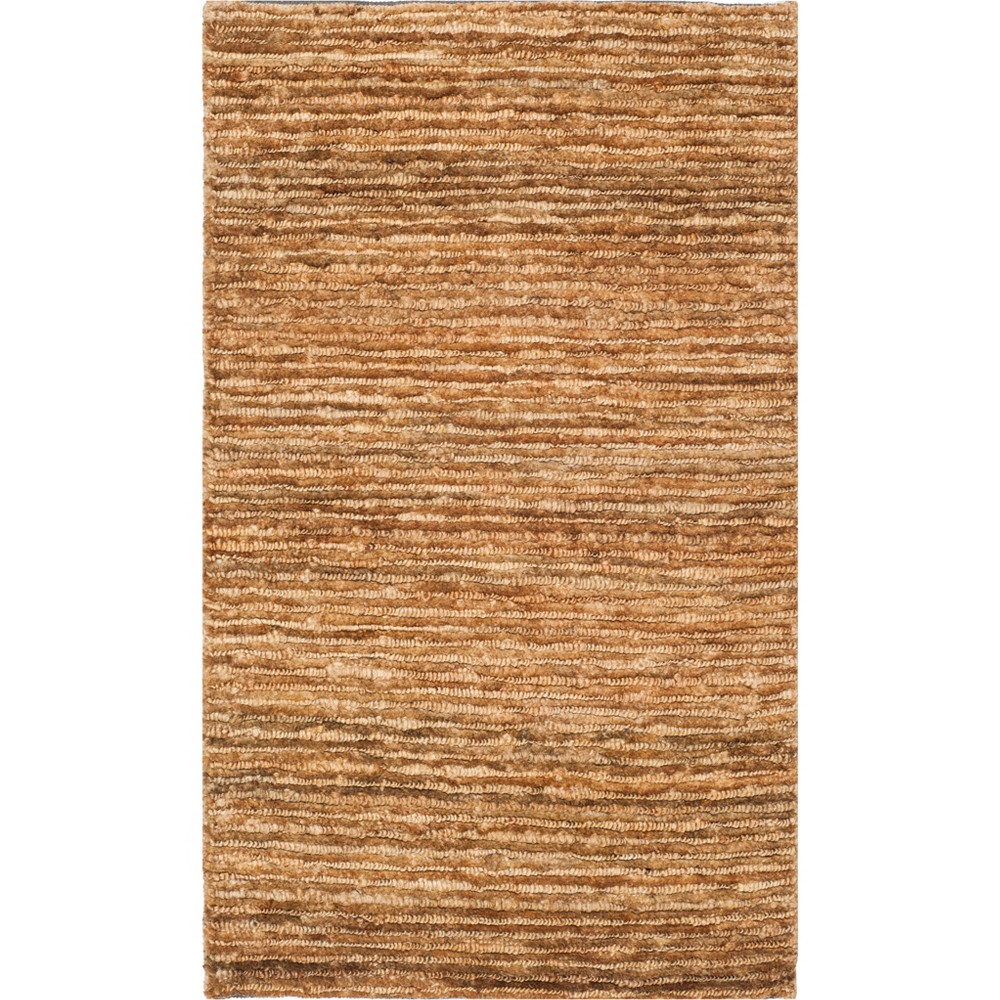 6'X9' Solid Knotted Area Rug Light Gray - Safavieh, White
