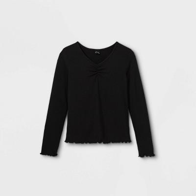 Girls' Cinch Front Long Sleeve T-Shirt - art class™