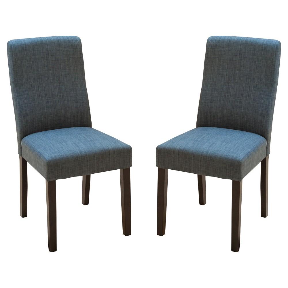 Corbin Dining Chairs - Indigo (Set of 2) - Christopher Knight Home, Blue