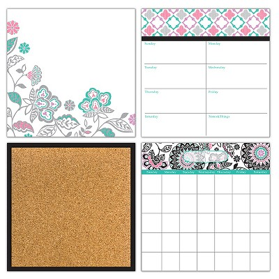 Wall Pops!  Dry Erase Calendar Set - Floral