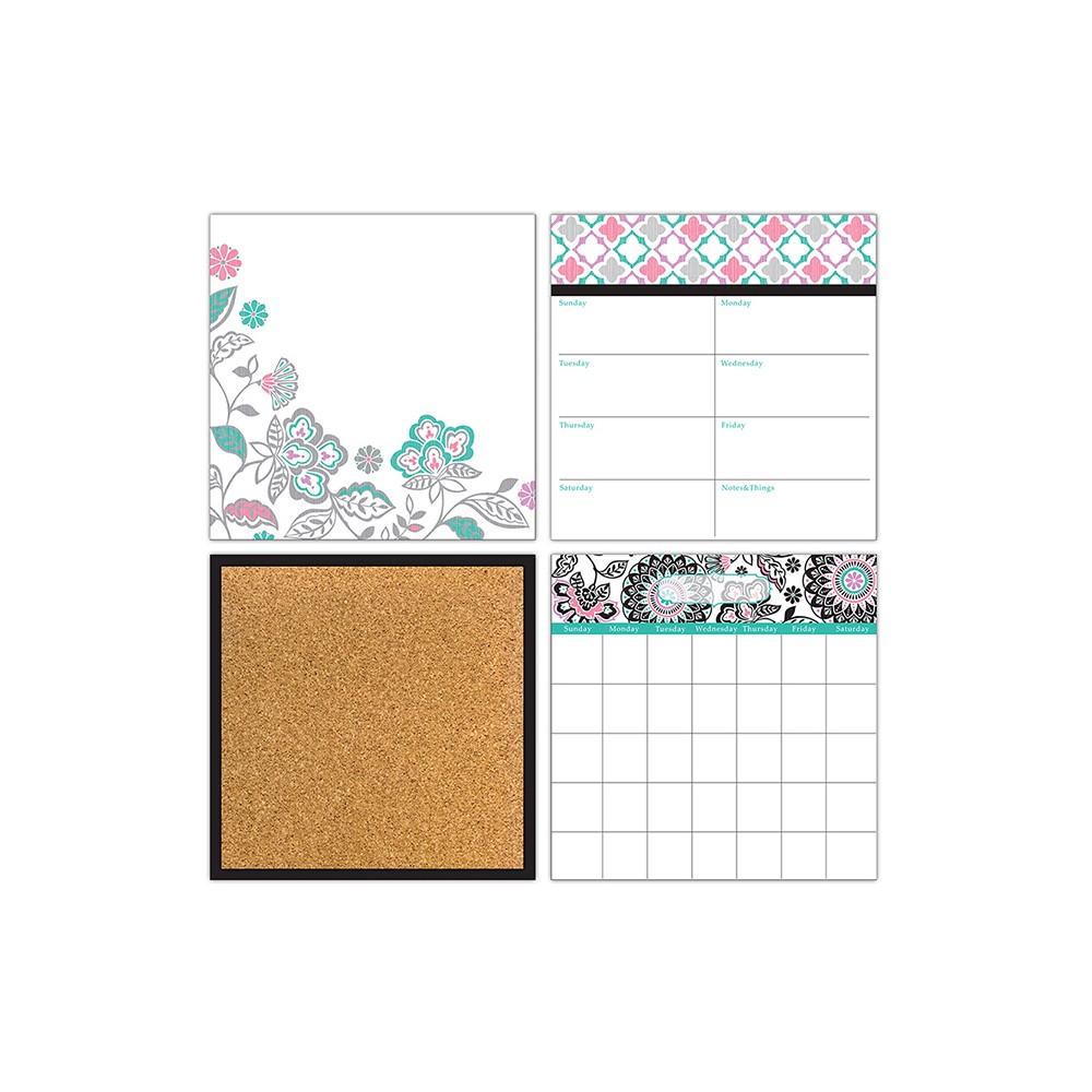 Wall Pops Dry Erase Calendar Set Floral