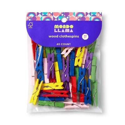 40ct Wood Clothespins - Mondo Llama™