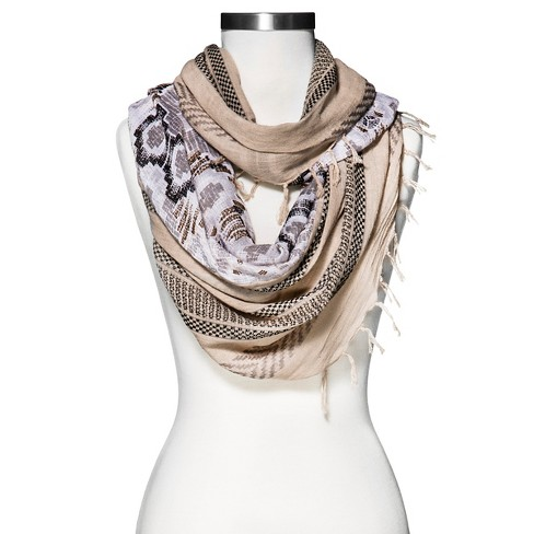 Women's Aztec Print Infinity Scarf Tan - Mossimo Supply Co.™ - image 1 of 2