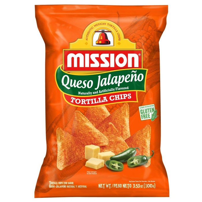Mission Queso Jalapeno Tortilla Chips - 3.53oz - image 1 of 2