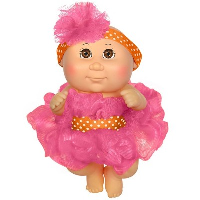 "Cabbage Patch Kids 9"" Basic Tiny Newborn Scrubby Time - Pink Fashion Blue Eyes"