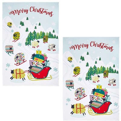 """Tabletop 30.0"""" Dotty Dashing Through The Snow Timeless Textiles Ulster Weavers  -  Kitchen Towel"""