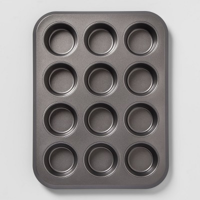 Carbon Steel Non-Stick Muffin Tin Dark Gray - Made By Design™