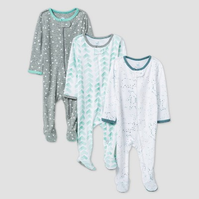 Baby Boys' Starry Slumber Sleep N' Play - Cloud Island™ Green Newborn