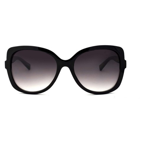 Women's Square Sunglasses - A New Day™ Black - image 1 of 1