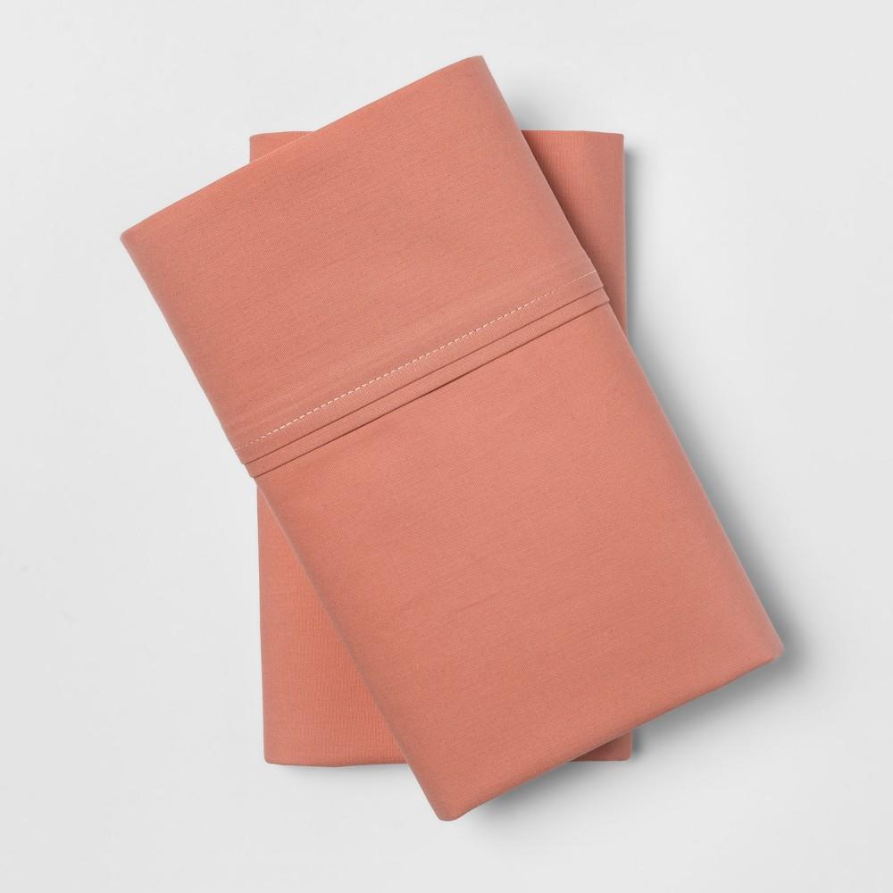 Organic Pillowcases (Standard) Honey Peach 300 Thread Count - Threshold