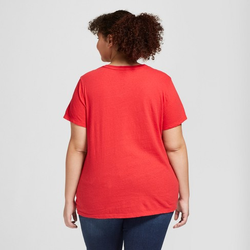 8adbd800f24 Women s Plus Size Monterey Pocket V-Neck Short Sleeve T-Shirt - Universal  Thread™   Target