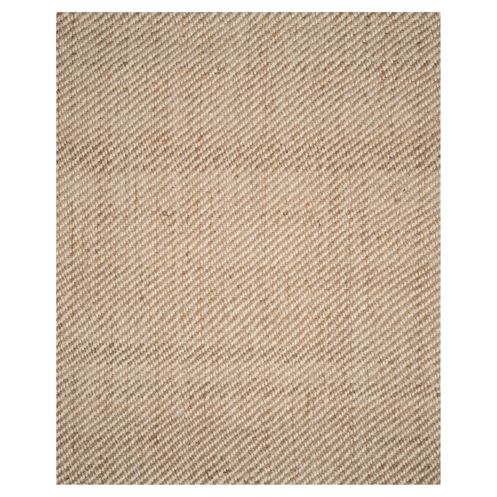 Natural Solid Loomed Area Rug - (8'X10') - Safavieh, White