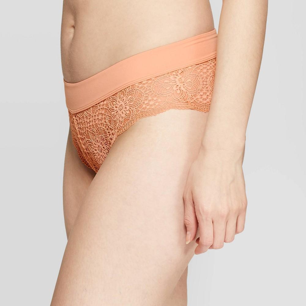 Image of Women's Lace Cheeky with Micro Waistband - Auden Prairie Peach M, Women's, Size: Medium, Prairie Pink