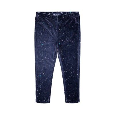 Andy & Evan  Toddler  Navy Galaxy Velvet Legging
