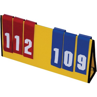 Sportime Multi Sport Scoreboard, Blue/Red Flip Numbers, 23 x 11 Inches